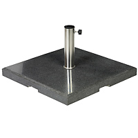 Granite umbrella stand, 90 KG, angular